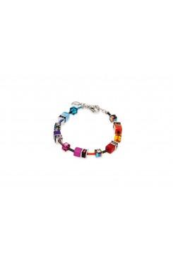 COEUR DE LION Geo Cube Rainbow Bracelet 2838/30-1520