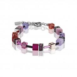 COEUR DE LION Geo Cube Magenta, Mauve and Pink Bracelet 2838/30-0325