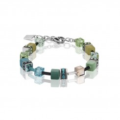 COEUR DE LION Geo Cube Multicolour Green Petrol Bracelet 2838/30-0537