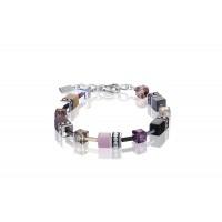 COEUR DE LION Geo Cube Pale Pink Tan Bracelet 2838/30-0838