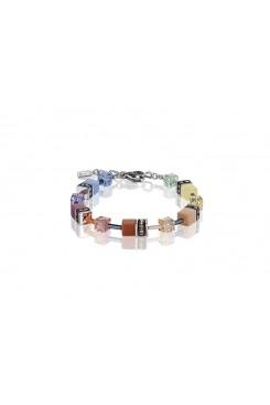 COEUR DE LION Geo Cube Multicolour Pastel Bracelet 2838/30-1542