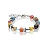 COEUR DE LION Geo Cube Multicolour Daylight Fresh Bracelet 2838/30-1563