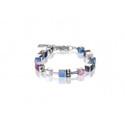 COEUR DE LION Geo Cube Pink, Navy and Sky Blue Bracelet 2839/30-0719