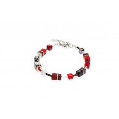 COEUR DE LION Geo Cube Red Bracelet 4014/30-0312