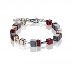 COEUR DE LION Geo Cube Titanium Red Bracelet 4015/30-0300