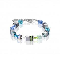 COEUR DE LION Geo Cube Silver & Cool Blue Bracelet 4015/30-0705
