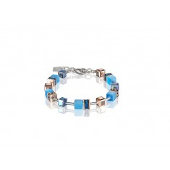 COEUR DE LION Geo Cube Delicate Cornflower Blue Bracelet 4016/30-0700