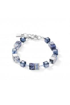 COEUR DE LION Geo Cube Hematite & Blue Sodalite Bracelet 4017/30-0700