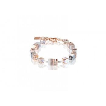 COEUR DE LION  Geo Cube Botswana Agate and Blush Champagne Bracelet 4017/30-0230