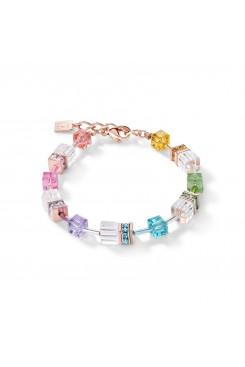 COEUR DE LION Geo Cube Multicolour Crystal Bracelet 4022/30-1500
