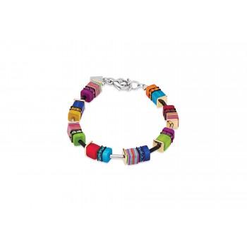 COEUR DE LION Geo Cube Malachite Multicolour Bracelet 4746/30-1500