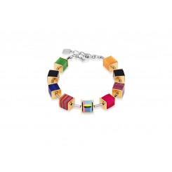 COEUR DE LION Geocube Swarovski Crystal Malachite Multicolour Bracelet 4747/30 - 1500