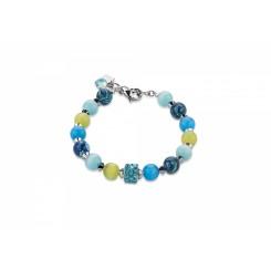 COEUR DE LION Swarovski Agate Blue Green Bracelet 4816/30-0605