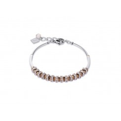 COEUR DE LION Swarovski, Cut Glass Rose Gold Champagne Bracelet 4858/30-1126