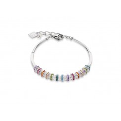COEUR DE LION  Swarovski, Cut Glass Clear Rainbow Bracelet 4858/30-1518