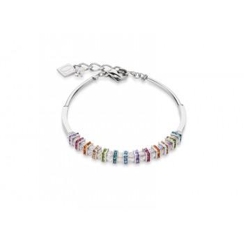 COEUR DE LION  Swarovski, Cut Glass Clear Rainbow Bracelet 4858/30-1518