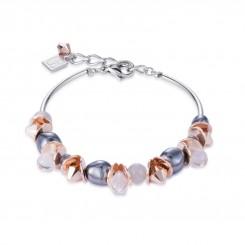 COEUR DE LION Swarovski Hematite Pearls Moonstone Bracelet 4863/30-1200