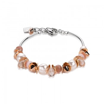 COEUR DE LION Swarovski Pearls Sunstone Bracelet 4863/30-1900