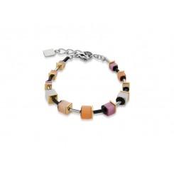 COEUR DE LION Geo Cube Polaris Soft Orange Pink Bracelet 4909/30-0219