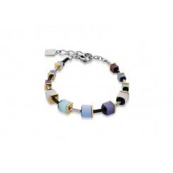 COEUR DE LION Geo Cube Polaris Soft Blue Turquoise Bracelet 4909/30-0737