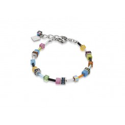 COEUR DE LION  Geo Cube Multi Colour Graduated Bracelet 4910/30-1527