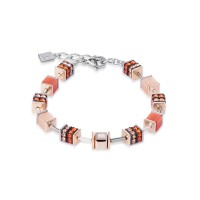 COEUR DE LION Geo Cube Elegant Orange & Rose Gold Bracelet 4928/30-0200