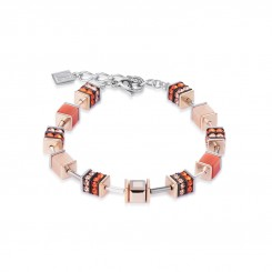 COEUR DE LION Geo Cube Elegant Orange & Rose Gold Bracelet 4928/30-0200