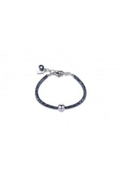 COEUR DE LION Bold Grey Hematite & Silver Bracelet 4932/30-1700