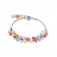 COEUR DE LION Multicolour Crystal & Rose Gold Bracelet 4938/30-1522