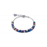 COEUR DE LION Swarovski Bevelled Haematite Multicolour Bracelet 4940/30-1500
