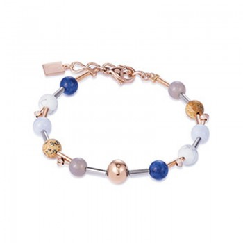 COEUR DE LION Natural Stones & Rose Gold Classic Bracelet 4949/30-0711