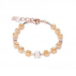 COEUR DE LION Geo Cube Rose Champagne Bracelet 4953/30-1000