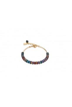 COEUR DE LION  Swarovski Multicolour & Gold Bracelet 4974/30-1500