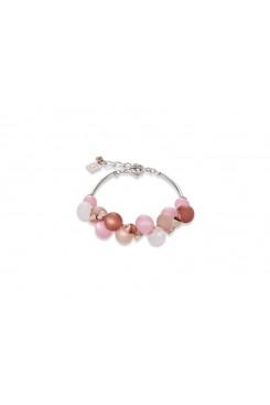 COEUR DE LION Soft Pink Matt Spheres Bracelet 4994/30-1910