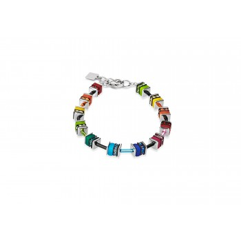 COEUR DE LION Geo Cube Mini Rainbow Colours Bracelet  4409/30-1500