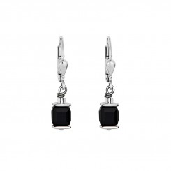 COEUR DE LION Cube Drop Earrings with Swarovski Crystals Black 0094/20-1300