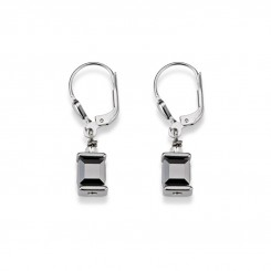 COEUR DE LION Cube Drop Earrings with Swarovski Crystals Grey 0094/20-1700