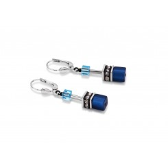 COEUR DE LION Geo Cube Beach Blue Earrings 2838/20-0710