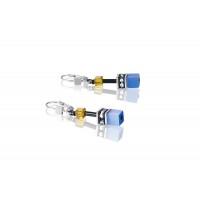 COEUR DE LION Geo Cube Sky Blue & White Earrings 2838/20-0701
