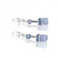 COEUR DE LION Natural Chalcedony Blue Earrings 4017/20-0720