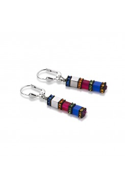 COEUR DE LION Geo Cube Multicolour Earrings 4031/20-1547