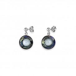 COEUR DE LION Swarovski Hand Worked Glass Pendant Earrings Cool White 4835/21-0700