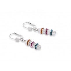 COEUR DE LION  Swarovski, Cut Glass Clear Rainbow Earrings 4858/20-1518