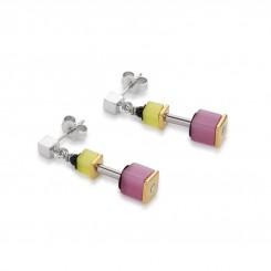 COEUR DE LION Geo Cube Polaris Soft Rainbow Multicolour Earrings 4909/21-1520