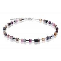 COEUR DE LION Geo Cube Pale Pink Tan Necklace 2838/10-0838