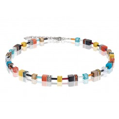 COEUR DE LION Geo Cube Multicolour Daylight Fresh Necklace 2838/10-1563