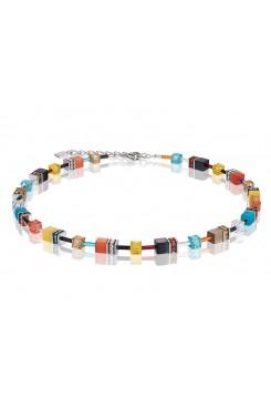 COEUR DE LION Geo Cube Multicolour Daylight Fresh Necklace 2838/10-1563