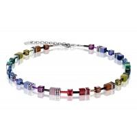 COEUR DE LION Geo Cube Soft Rainbow Necklace 2838/10-1570