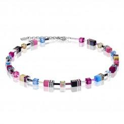 COEUR DE LION Geo Cube Watermelon Pink & Sky Blue Bracelet 2838/30-1571