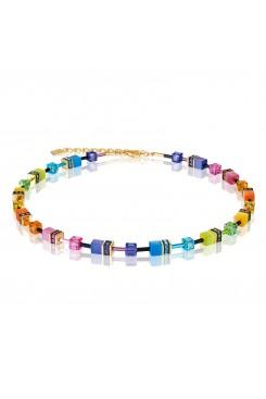 COEUR DE LION Geo Cube Fresh Rainbow Necklace 2838/10-1573